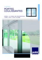 Les portes coulissantes Aluminium